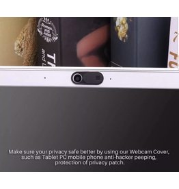 Privacy bescherming webcam cover, Zwart, Slid-cover, UltraDun, Laptop en Tablet