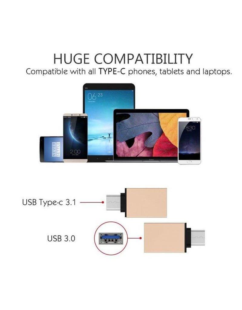 USB Type-C to USB 3.0 Adapter, geschikt voor laptops, tablets en smartphones