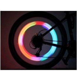 Fietsverlichting, 4 kleurig LED voor fietswielen, Set van 2