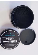 100% Natural Teeth Whitening | Biologisch Activated Charcoal Tandenbleker 30g. | Tandenbleekpoeder