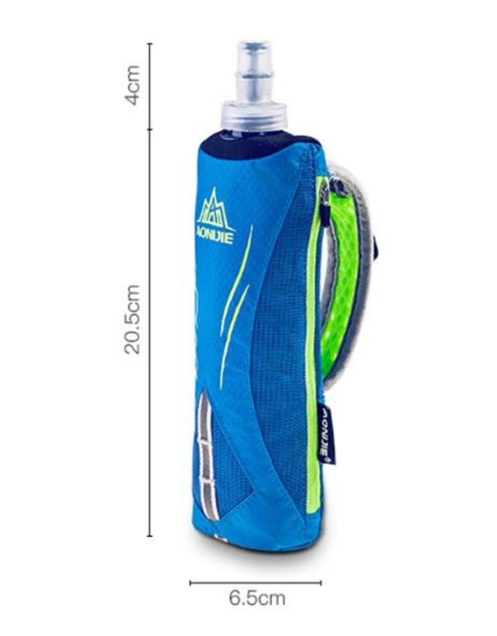 Hardloopbidon, handbidon, drinkfles met telefoon-, geld- en sleutels vakjes | Hardloopfles| Sportfles