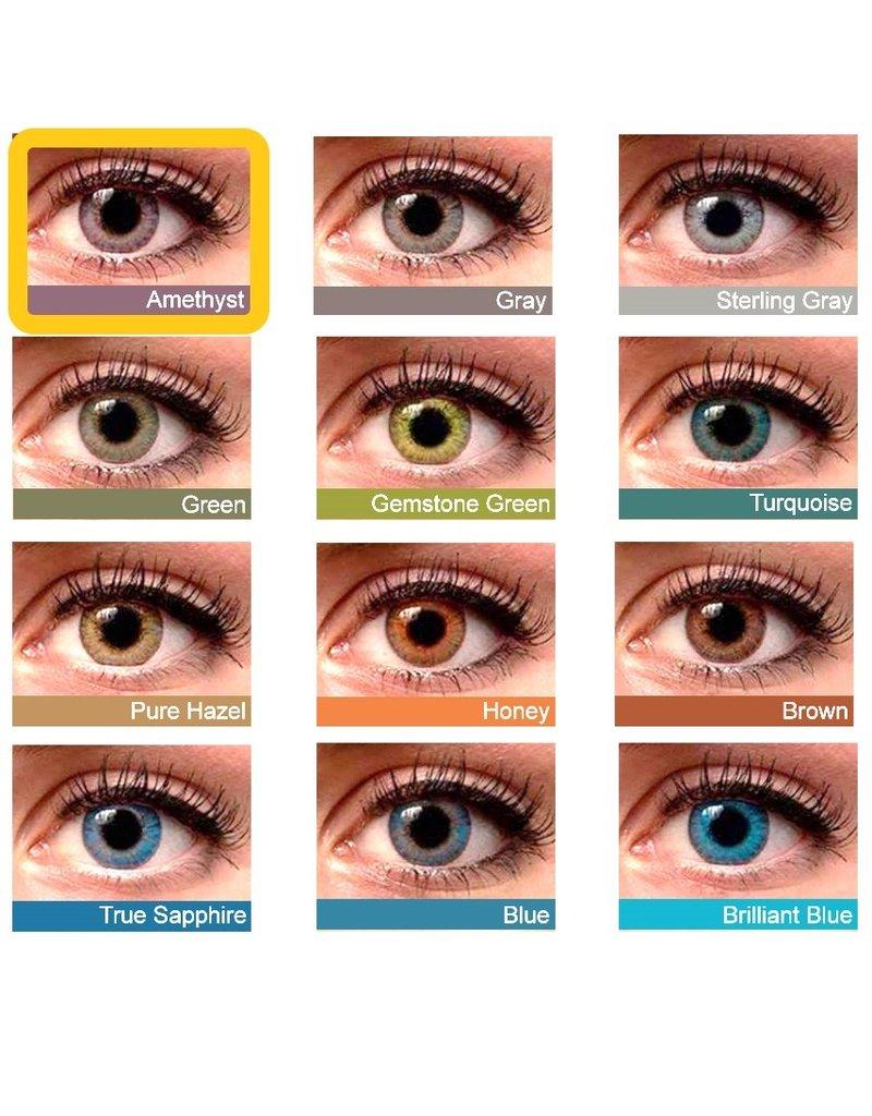 Kleurlenzen, contactlenzen, Maandlenzen, zonder sterkte voor donkere ogen, gratis lenzendoosje
