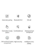 Bluetooth oordopjes voor iPhone en Android smartphones en Tablets, met mic, met docking station, oplaadbaar, i10 TWS