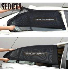 2 Stuks Auto-zonnescherm, isolatie venster voor de achterruiten