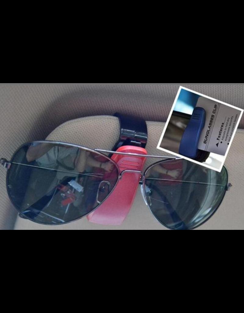 Clipje voor in de auto, papieren- en brillenhouder
