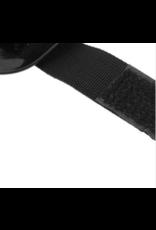 Rubberen schoenbeschermer voor linkervoet tijdens motorrijden