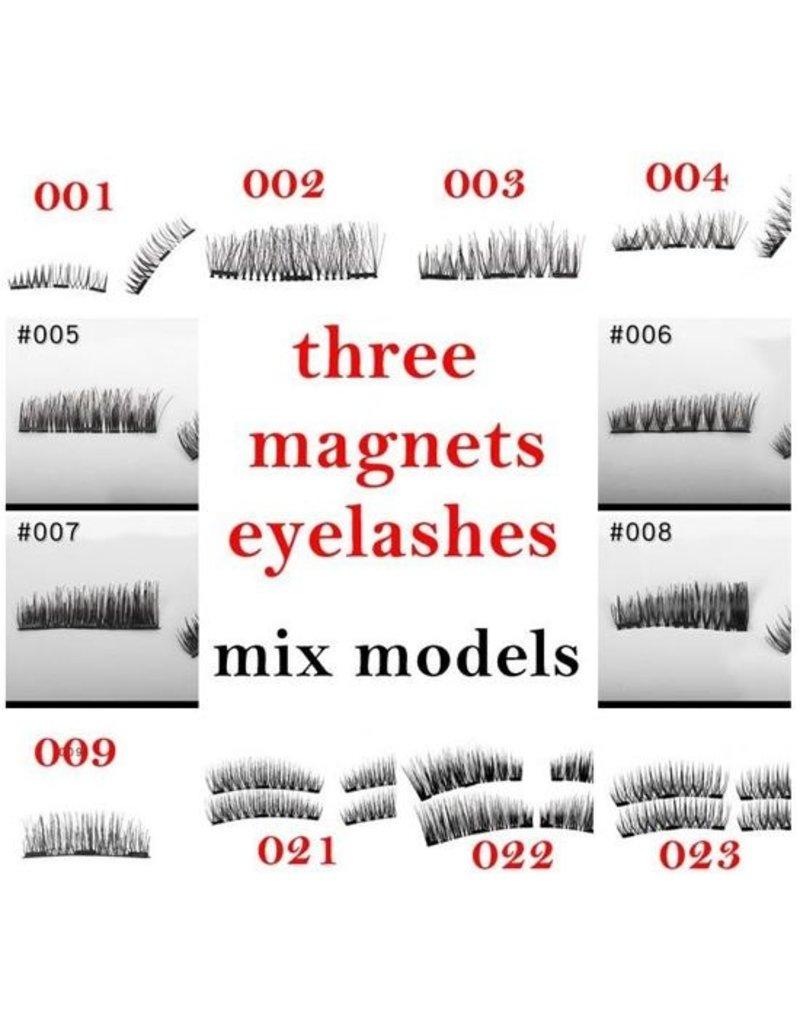 Herbruikbare magnetische wimpers, met 3 magneten, incl. magnetisch pincet