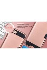iPhone 7 / 8 hardcase, schokbestendig hoesje met bankpas vakje