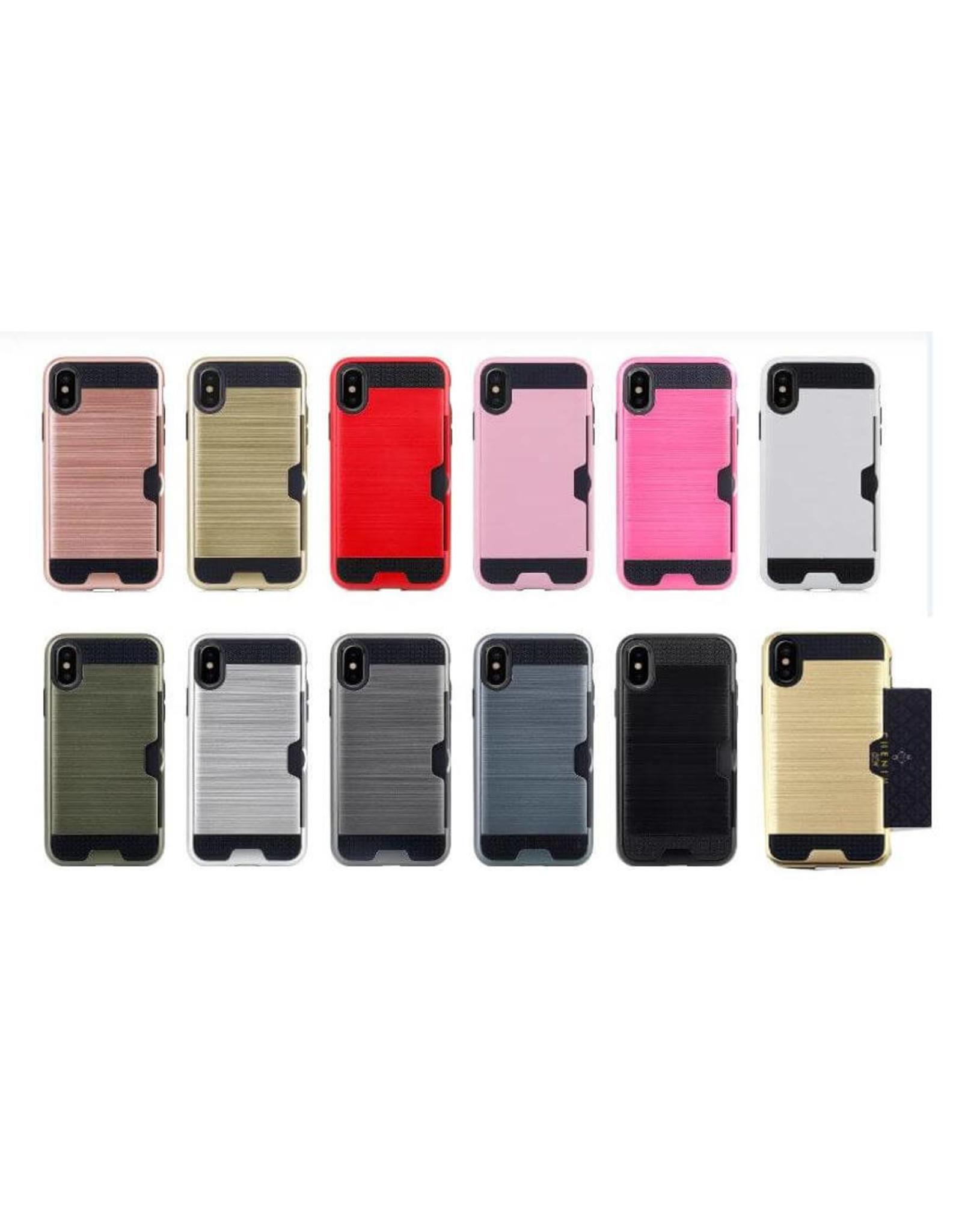 iPhone 7 Plus / 8 Plus hardcase, schokbestendig hoesje met bankpas vakje