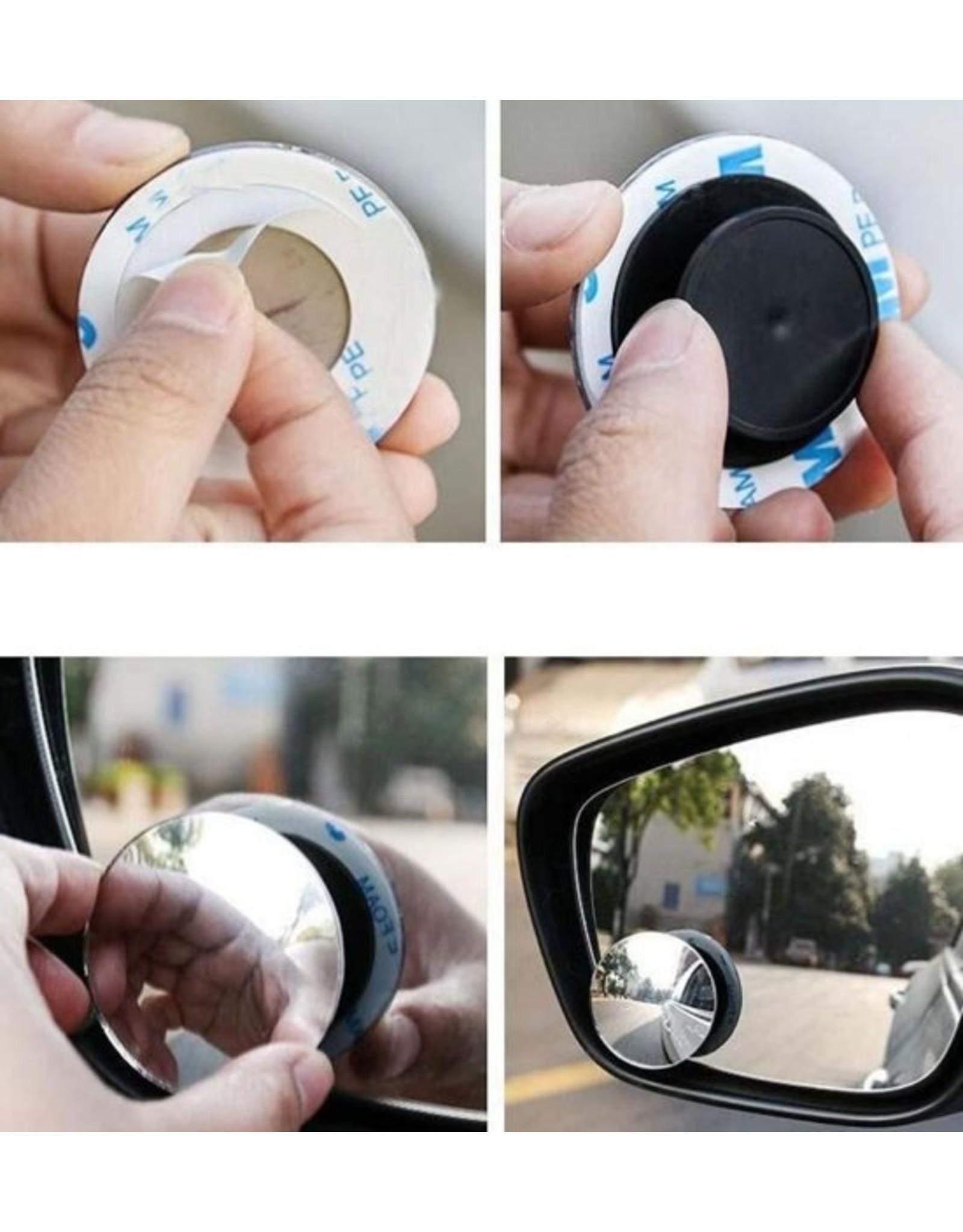 Set van 2 dode hoekspiegels, Blind spot Round mirror set of 2