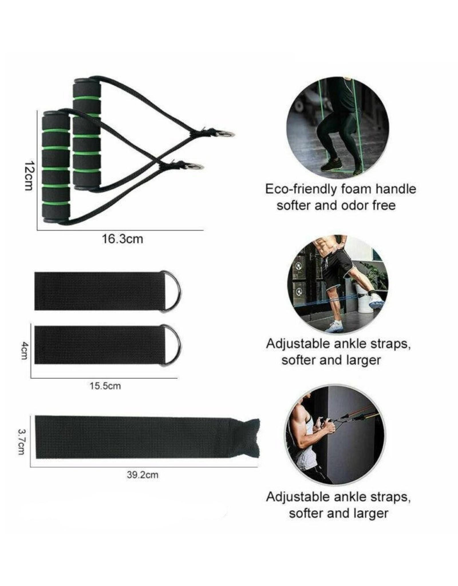 Multiset weerstandsbanden, 11 delig, voor thuis of outdoor fitness