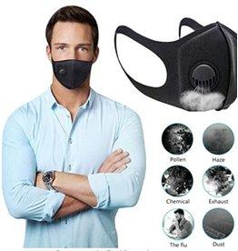 Gezichtsmasker met filter en ademend ventiel