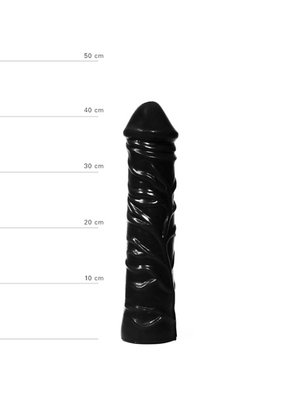 All Black Realistischer XXL Dildo 33 cm in Schwarz
