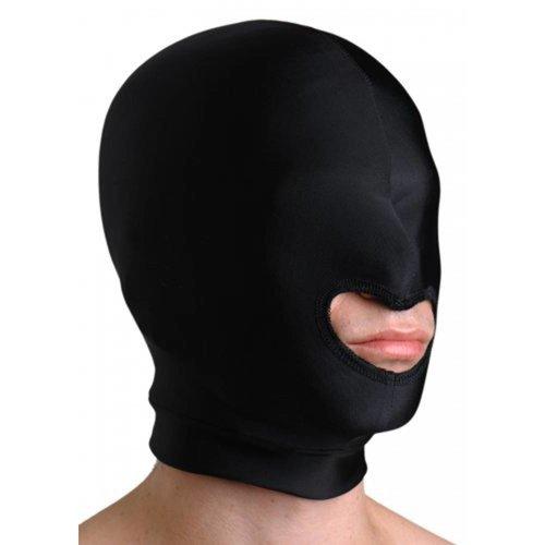 Strict Leather Premium Kappe aus Elastan mit Mundöffnung