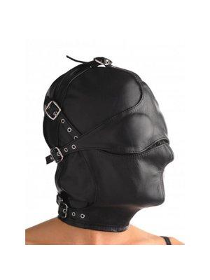 Strict Leather Kappe aus Leder mit abnehmbarer Augen- und Mundklappe