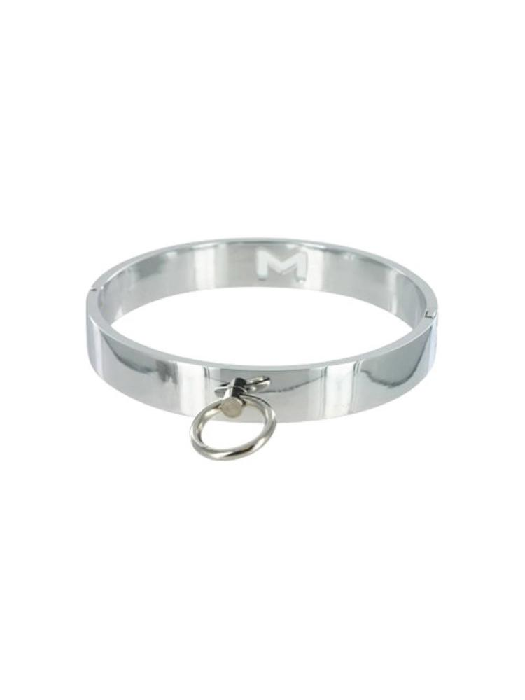 Master Series Chrome Slave Collar - Medium/Large