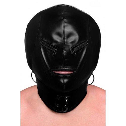 Strict Bondage Hood Maske mit Reißverschluss
