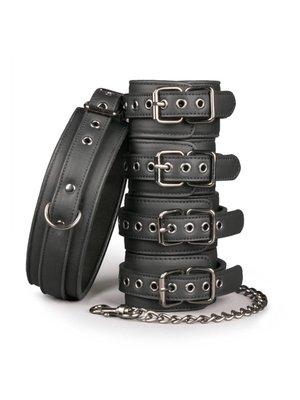 Easytoys Fetish Collection Fetisch-Set mit Halsband, Fußgelenk- und Handgelenkmanschetten