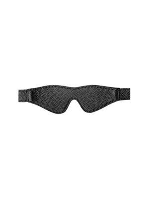 GreyGasms Augenbinde aus Leder in Schwarz