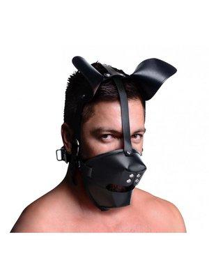 Master Series Puppy Play Maske Mit Ballknebel - Schwarz