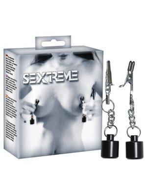 Sextreme schwarz/silbernen Brustgewichte