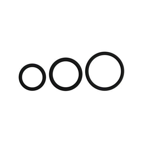 Easytoys Men Only Cockring-Set mit drei verschiedenen Ringgrößen - Schwarz