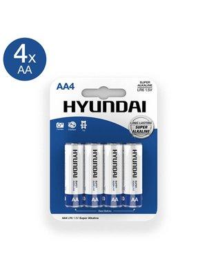 Hyundai Super Alkaline AA Batterien - 4 Stück