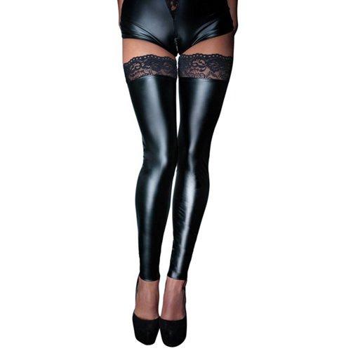 Noir Handmade Wetlook Beinstulpen ohne Fuß