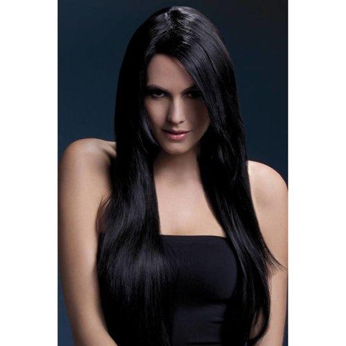 Fever Langhaarperücke mit glattem Haar in Schwarz