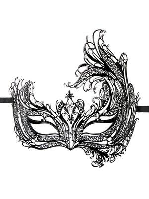 Easytoys Fetish Collection EasyToys – Durchbrochene venezianische Maske in Schwarz