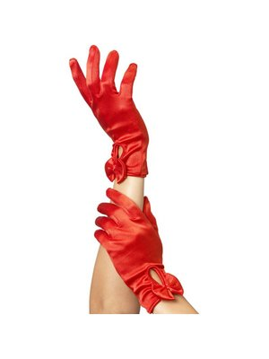 Fever Handschuhe mit Schleife in Rot