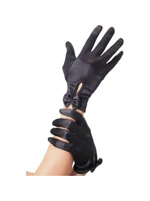Fever Handschuhe mit Schleife in Schwarz