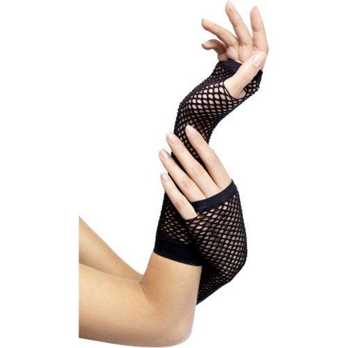 Fever Handschuhe aus Netzmaterial in Schwarz