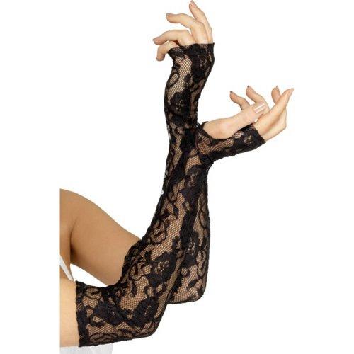 Fever Fingerlose Handschuhe aus Spitze in Schwarz