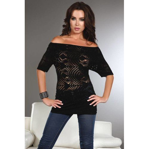 Livia Corsetti Fashion Shirt Orsola mit langen Ärmeln in Schwarz