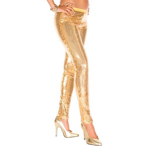 Music Legs Pailletten Leggings GOLD