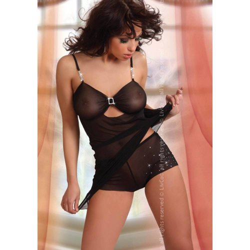 Livia Corsetti Fashion Babydoll-Set Kasandra in Schwarz