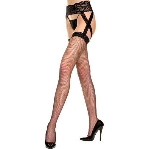 Music Legs Plus Size Strumpfhalterset mit überkreuzten Strapsen