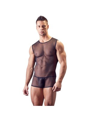 Svenjoyment Underwear Body aus transparentem Powernet
