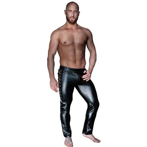 Noir Handmade Lange Hose mit seitlicher Schnürung