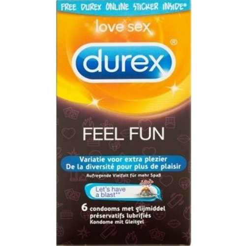 Durex Durex Emoji Feel Fun Kondome - 6 Stück