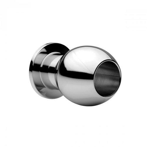 Master Series Medium Abyss - Hohler Analplug aus Stahl
