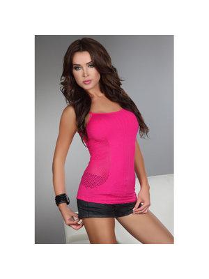 Livia Corsetti Fashion Offenes Shirt Sienna in Neonpink