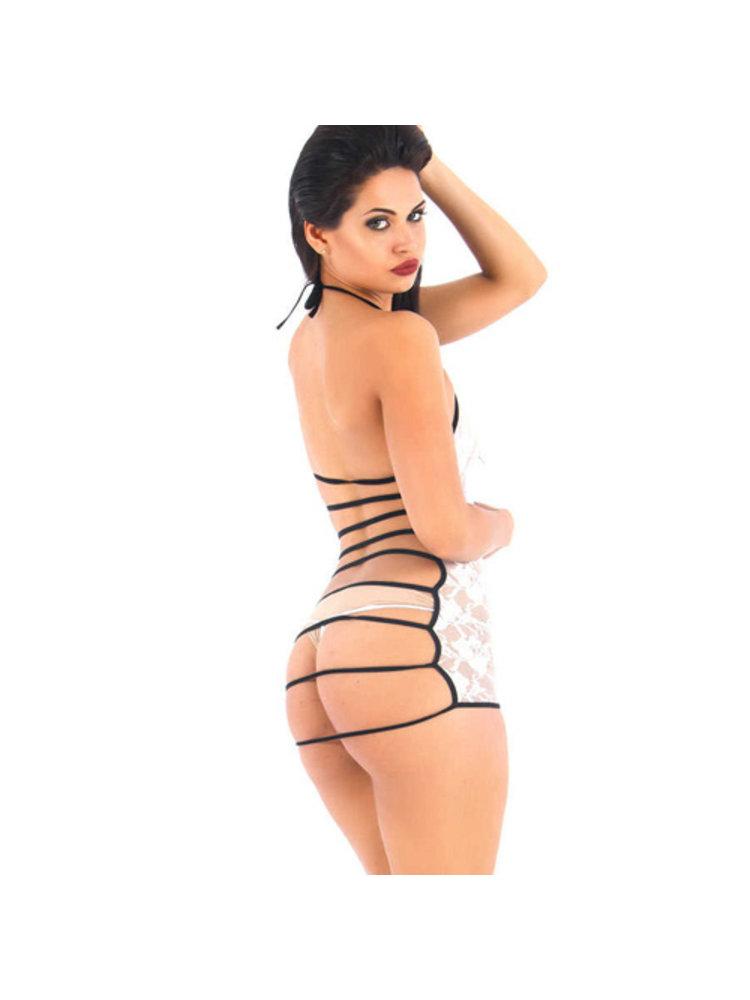 Vixson Durchsichtiges Kleid aus Spitze mit offenem Rücken