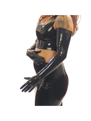Latex2wear Lange Latexhandschuhe