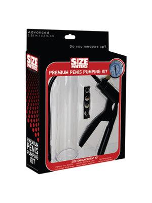 Size Matters The Premium Pumping Kit Penis-Pumpe - Klein