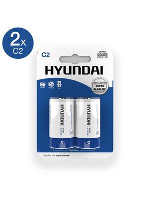 Hyundai Super Alkaline C Batterien - 2 Stück