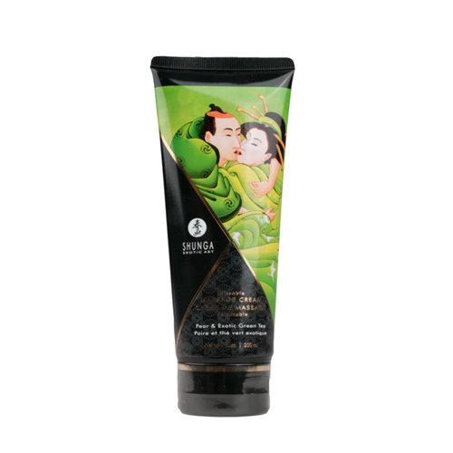 Shunga Kissable Massagecreme - Pfirsich & Grüner Tee