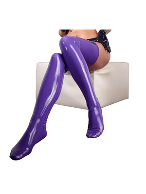 The Latex Collection Latexstrümpfe lila
