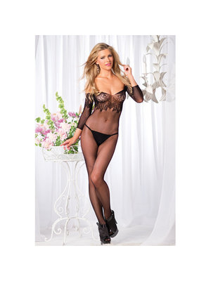 Be Wicked Schulterfreier Netz-Catsuit ouvert